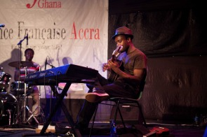 Kyekyeku performing at The Cadence