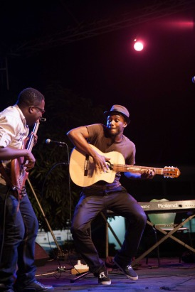 Kyekyeku and Bright performing at The Cadence